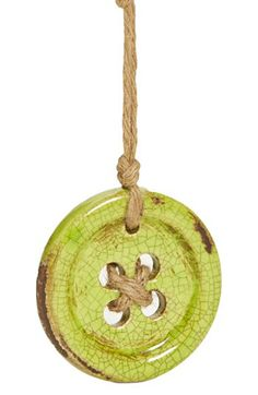 Creative Co-Op Terra Cotta Button Ornament available at #Nordstrom