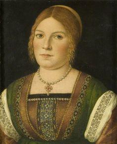 ab. 1500 Italian (Venetian) School - Portrait of an Unknown Young Woman