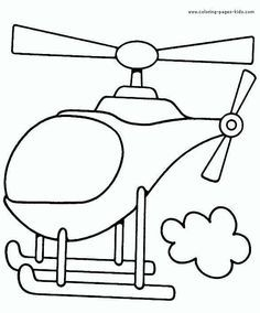 Helicopter Coloring Page 01