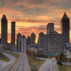That Atlanta sunset.