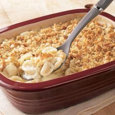 """Delicious Three-Cheese Mac  Cheese - in the Deep Covered Baker (DCB) aka """"Magic Pot"""". Click on the picture to browse products and recipes on my Pampered Chef Page or contact me to place an order or book a party!! ♥"""
