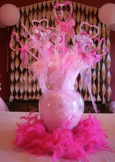 Pink Princess Birthday Party wand favors!  See more party planning ideas at CatchMyParty.com!
