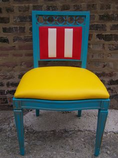 Under the Big Top  Pair of Vintage Refurbished Chairs by minthome, $299.00