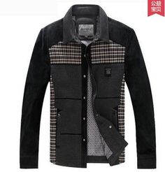 Jacket - Black and Plaid Geometrical design Casual Autumn Coat - On Sale for $158.99 (was $179.99) @runit365 #stylish #originale #jacket