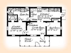 Two Bedroom House Plans for Small Land: Two Bedroom House Plans Front Porch Two Bedrooms