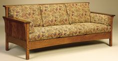 33% OFF Amish Sofas - High Back Slat Oak: Amish, Mission, & Shaker Sofas