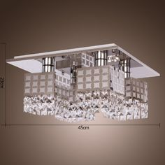 LightInTheBox® Stainless Modern Crystal Ceiling Light Fixture Flush Mount Gein Pattern with 4 Lights for Living Room, Hallway, Bedroom