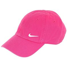 NIKE Swoosh Cotton Baseball Hat - Fuchsia ($18) ❤ liked on Polyvore featuring accessories, hats, fuchsia, cotton baseball hats, baseball cap, cotton hat, nike and nike hats