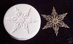 GIANT  SNOWFLAKE 1 ~ CNS polymer clay mold fimo