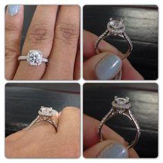 Show me you Round diamonds in a cushion halo!!! - Weddingbee   Page 6