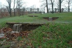 Can Parks Do Double Duty? Philadelphia Shows How. Cliveden during a spring rain - credit Jessica Brooks Backyard Water Feature, Ponds Backyard, Rain Garden, Water Garden, Sponge City, Water Architecture, Natural Pond, Patio Gazebo, Water Management