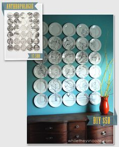 East Coast Creative: Anthro-Inspired Plate Wall {While They Snooze}