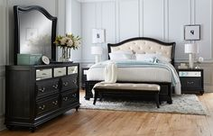 Love this Bedroom Set. So Want to get this. American Signature Furniture - Marilyn Bedroom Collection-Queen Bed.