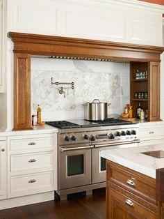 Home interior design interior design 2012 design home design Kitchen Island With Stove, New Kitchen, Kitchen Dining, Kitchen Mantle, Kitchen Stove, Stylish Kitchen, Modern House Design, Home Design, Home Interior Design