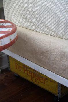 Boys' Bedroom - Burlap Boxspring