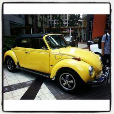 Convertible vintage vw bug