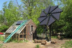 Solar Sculpture And Greenhouse