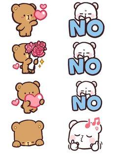 Cute Couple Cartoon, Cute Love Cartoons, Cartoon Pics, Cartoon Styles, Cute Cartoon, Cute Bear Drawings, Cute Kawaii Drawings, Cool Drawings, Cubs Wallpaper