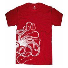 Kraken Tee Men's Red, $21, now featured on Fab.