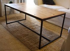 Items similar to Modern Industrial Metal and Wood Coffee Table on Etsy Industrial Metal, Coffee, Wood, Tables, Furniture, Vintage, Home Decor, Products, Houses