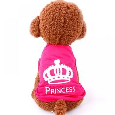 [Visit to Buy] Pet Dog Clothes Puppy Vest Spring summer T-shirt Pet Shirt Cute dog vest princess pajamas pet Cat Clothes costume for small dog Small Dog Clothes, Puppy Clothes, Dog Vest, Dog Shirt, Shirt Vest, Vest Coat, Sweatshirt, Jacket, Summer Dog