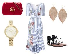 """""""A bit of start."""" by hayfaaa on Polyvore featuring Temperley London, Gucci, Humble Chic and Kate Spade"""