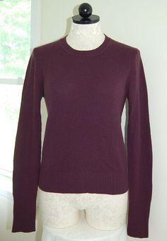 TSE SAY TSESAY 100% Cashmere Woman's Burgundy Crewneck Sweater M #TSESAY #Crewneck