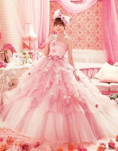 pink wedding dress...maybe!?