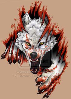 Arctic Wolf Tattoo by Novawuff.deviantart.com