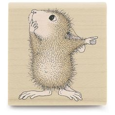 House Mouse Wood Mounted Rubber Stamp-Mudpie Tells