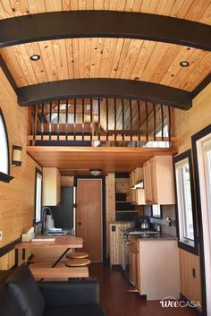 The largest tiny house available for rent at the WeeCasa Tiny House Resort! Small Room Design, Tiny House Design, Small Space Living, Small Spaces, Tiny House Storage, Dream House Interior, Tiny House Living, Dream House Plans, Suites