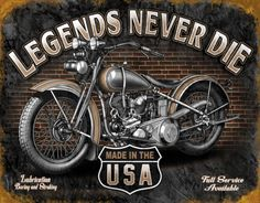 Legends - Never Die Tin Sign at AllPosters.com