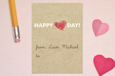 Crayon Heart Classroom Valentine's Day Cards by Kate Sawyer at minted.com