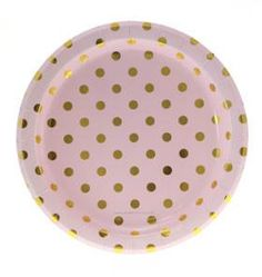 We are your Online Party Store Boutique and we have the Pink and Gold Polka Dot Plates and Party Supplies that you need! These are great for any graduation party or milestone party