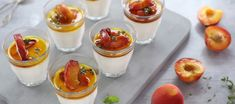 Panna Cotta with Honey Roasted Peaches - Food Lovers Market Pudding Cake, Italian Desserts, Oven Roast, Summer Fruit, Puddings, Peaches, Dessert Ideas, Delicious Desserts, Tart