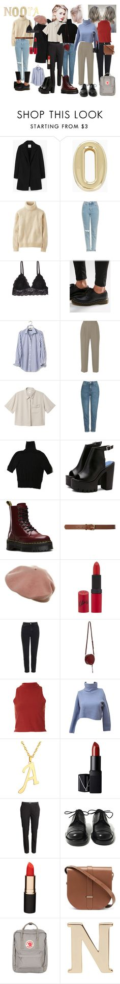 """Noora Sætre from Skam"" by aimeecombe on Polyvore featuring MANGO, BCBGeneration, Uniqlo, Topshop, Humble Chic, Dr. Martens, Banana Republic, Vanessa Bruno, Monki and H&M"