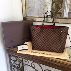 caa1c4f9c7 Louis Vuitton Neverfull GM Damier Ebene tote bag Authentic Louis Vuitton  Neverfull GM Damier Ebene.