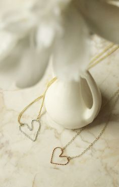 DIY: wire heart necklace/bracelet
