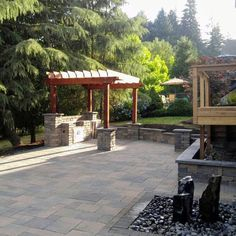 Looking for some paver ideas for patio for inspiration? Here we have listed 15 paver patio ideas to help you make an amazing patio Concrete Patio Designs, Backyard Patio Designs, Backyard Landscaping, Patio Ideas, Porch Designs, Backyard Play, Backyard Fences, Yard Ideas, Outside Patio