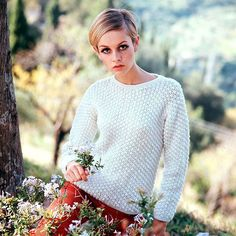 60's icon Twiggy at a portrait shoot 1967.