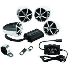 Boss Audio 1200-watt Motorcycle And ATV 4-speaker Sound System With Bluetooth