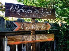 Wedding Directional Signs Cocktails Signs by OneCoopedChick, $30.00