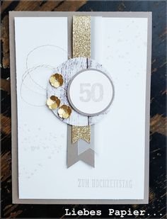 1000+ images about Goldene Hochzeit on Pinterest | Hochzeit, Stampin up and Tags