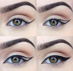Ideas eye makeup drawing winged liner for 2019 Cat Eye Tutorial, Winged Eyeliner Tutorial, Winged Liner, Perfect Winged Eyeliner, Makeup Goals, Makeup Inspo, Makeup Inspiration, Makeup Blog, Beauty Makeup