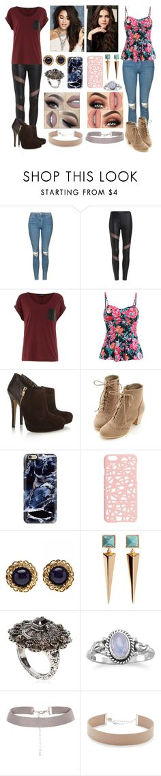 """First Day of School"" by gracethewallflower01 ❤ liked on Polyvore featuring Topshop, Dorothy Perkins, MICHAEL Michael Kors, Miss Dora, Casetify, Miss Selfridge, Chanel, H&M, Alexander McQueen and Jennifer Zeuner"