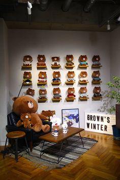 Brown's Corner at Line Friends Store in Harajuku Japan