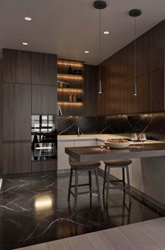 6 ideas for choosing or relooking your kitchen credenza - My Romodel Modern Kitchen Cabinets, Modern Kitchen Design, Interior Design Kitchen, Modern Interior Design, Kitchen Contemporary, Contemporary Decor, Home Decor Kitchen, Kitchen Furniture, Kitchen Ideas