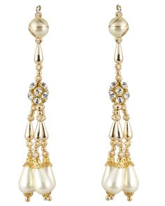 Pearl White long Tassel for Cholis, Lehangas, Blouses & Suits