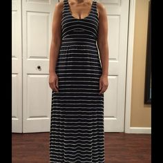 Maxi nautical summer dress Lined & stretch material, extremely slimming & flattering fit Anthropologie Dresses Maxi