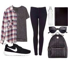 Sporty, casual school outfit